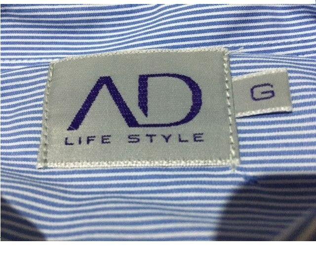 Camisa manga longa azul AD Life Style nova, 100% algodão - Foto 4
