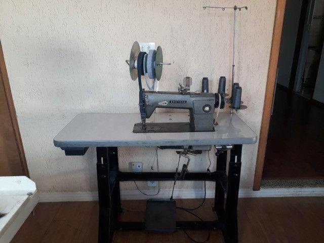 Maquina de Costura Ombro-a-ombro Reforço Gola 2 Agulhas Semi-Industrial Brother 110v