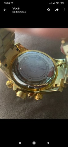 Relógio invicta original banhado a ouro - Foto 3