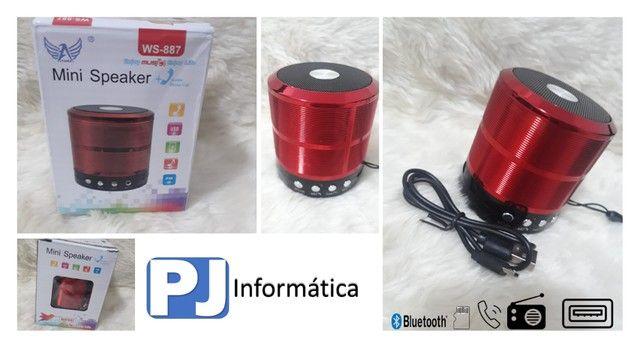Caixa de Som Caixinha de Som Speaker Portátil Bluetooth Com Mp3 Fm Sd USB