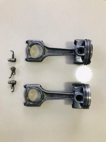pistão com biela e aneis (mini cooper 1.5 turbo) 3 cilindros