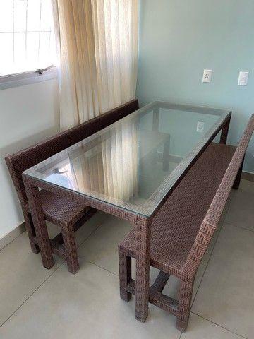 Mesa com tampo de vidro 2 m - Foto 2