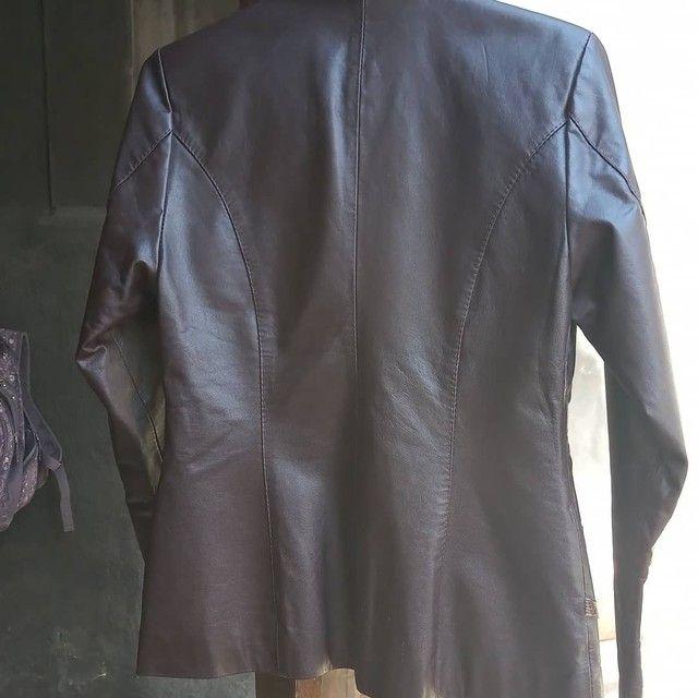 Jaqueta em couro marrom - Foto 2