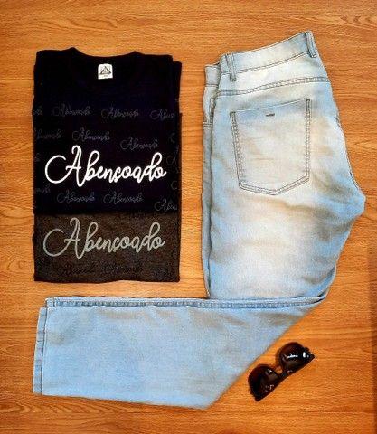 """Camisetas Evangélicas """"ABENÇOADO"""" - Foto 4"""