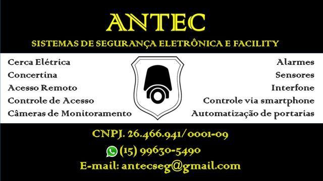Controle de acesso, Cerca Elétrica, Alarme, Câmeras de monitoramento