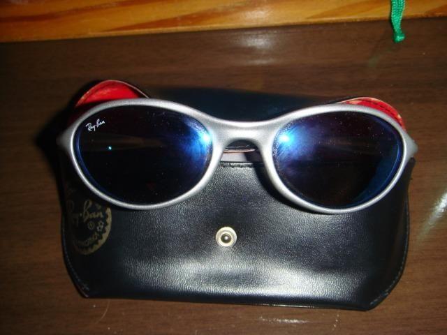 636d3b1be4 Óculos de sol rayban pouco usado -lentes azuis Rio de Janeiro ...