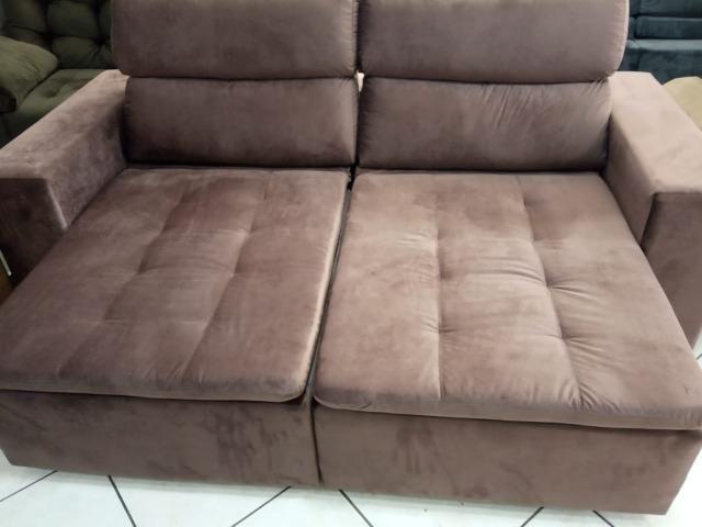 Sofá retrátil e reclinável 2,20L - Foto 4