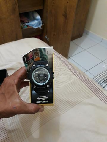 Relógio Mormaii na caixa pra trocar em corrente de prata - Foto 3