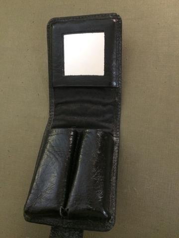 Porta batom de couro com espelho - Foto 4