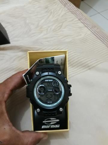 Relógio Mormaii na caixa pra trocar em corrente de prata