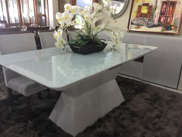 Mesa dallas sala de jantar retangular nova completa