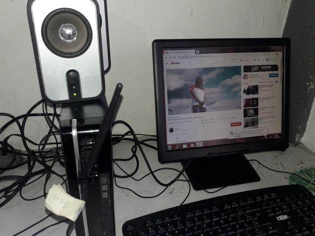 Vendo computador completo Wi-Fi, som home office - Foto 4