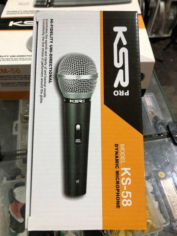 Microfone KSR KS58 novo, com acessórios  - Foto 2
