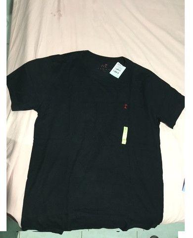 Camiseta preta lisa AD Life Style Nova 100% algodão - Foto 3