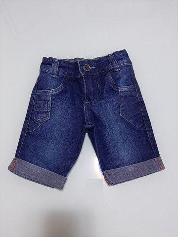 Calça/Bermuda Jeans Infantil menino 2 anos *ACEITO CARTÃO* - Foto 5