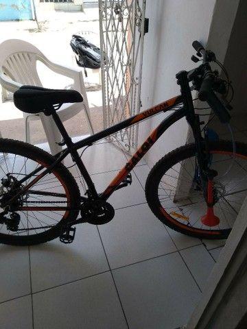 Bicicleta aro 29 vulcan alumínio freio a disco