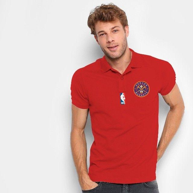 Camisa Polo Do Denver Nuggets - Nba - 100% Bordada - Foto 4
