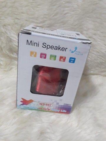 Caixa de Som Caixinha de Som Speaker Portátil Bluetooth Com Mp3 Fm Sd USB - Foto 2