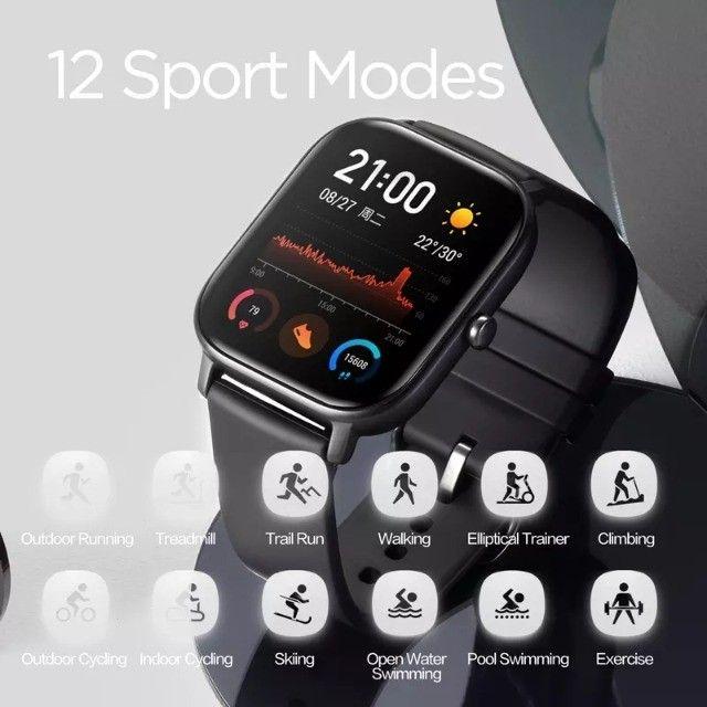 Relógio Smartwatch Xiaomi Amazfit Gts A1914 Lava Gray - Foto 3
