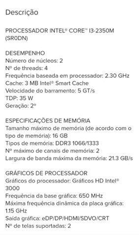 Processador i3 para Notebook. - Foto 2