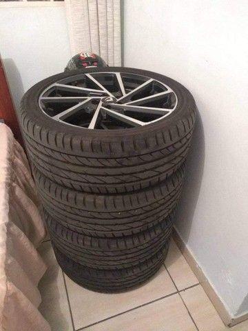 Rodas Volcano Seven aro 18 com pneus novos. - Foto 5