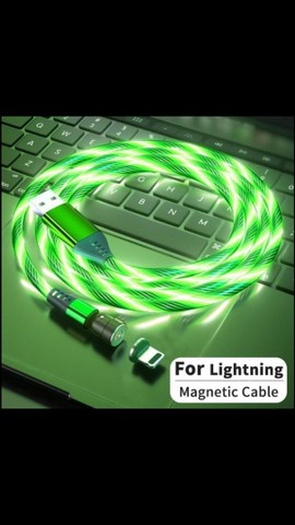 Cabo carregador magnético led iPhone / sansung / lg / motorola  - Foto 4