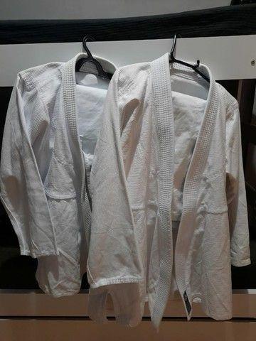2 Kimono Jiu-jitsu A1 Trançado Leve Adulto - Aranha novo  - Foto 2
