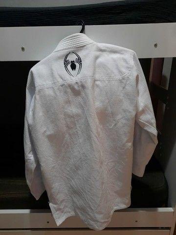 2 Kimono Jiu-jitsu A1 Trançado Leve Adulto - Aranha novo  - Foto 3