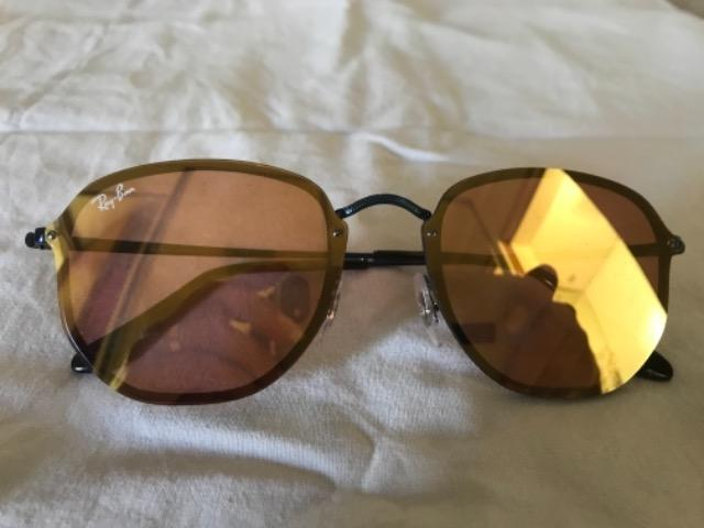86a1d6492 Óculos ray ban hexagonal espelhado amarelo - Bijouterias, relógios e ...