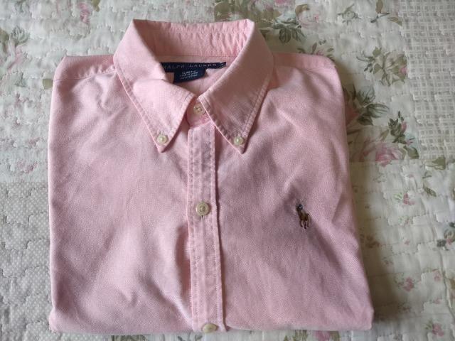 51aee2551 Camisa manga longa feminina polo ralph lauren rosa - Roupas e ...