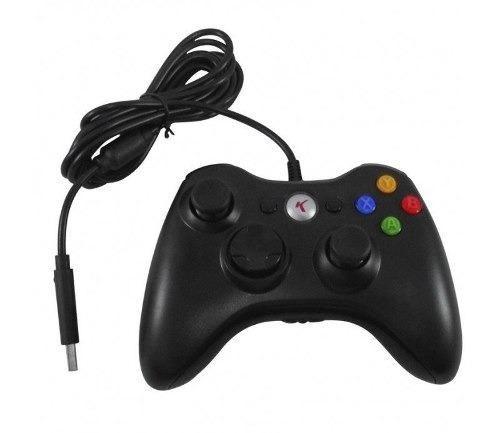 Controle Com Fio Xbox 360 E Pc Slim Joystick Notebook Usb - Foto 5
