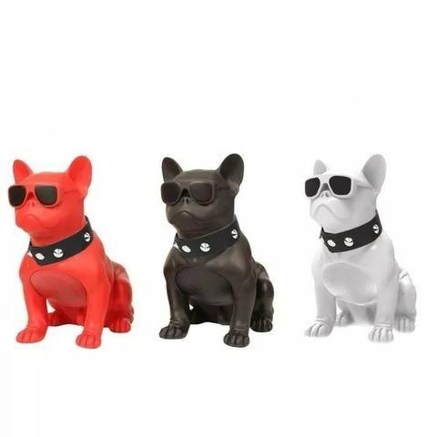 Caixa De Som Amplificada Modelo Cachorro Bulldog Bluetooth - Foto 2