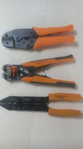 Kit de Alicates Tramontina Pro crimpador , desencapador e descascador