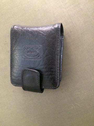Porta batom de couro com espelho - Foto 3