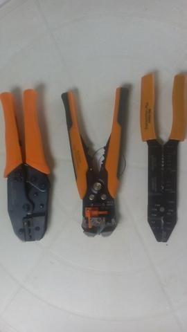 Kit de Alicates Tramontina Pro crimpador , desencapador e descascador - Foto 2