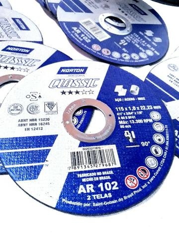 Disco de corte 4.1/2 115 mm x 1,0 mm x 22,23 mm, Norton - Foto 3