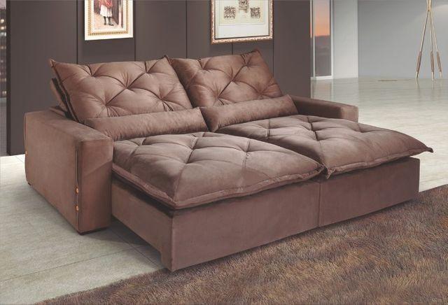 Sofá Retrátil e Reclinável Elegance Confort 2mt