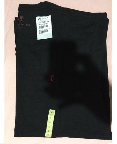 Camiseta preta lisa AD Life Style Nova 100% algodão