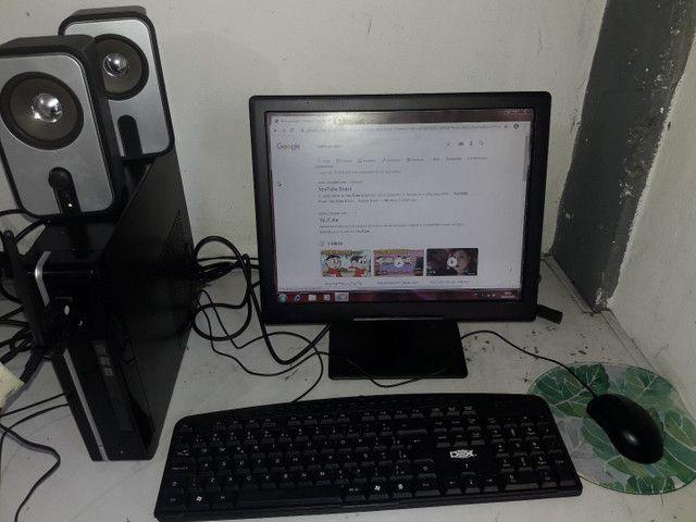 Vendo computador completo Wi-Fi, som home office - Foto 5