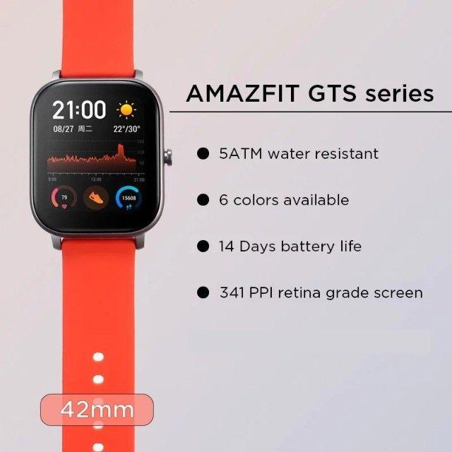 Relógio Smartwatch Xiaomi Amazfit Gts A1914 Lava Gray - Foto 6