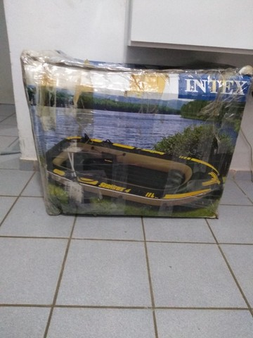Bote inflável Seahawk 4 Intex 4 lugares - Foto 6