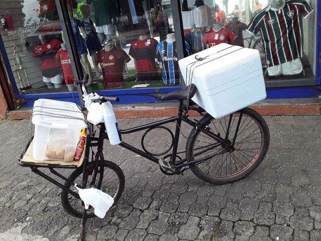 Bicicleta cargueira com o isopor e térmica  - Foto 2