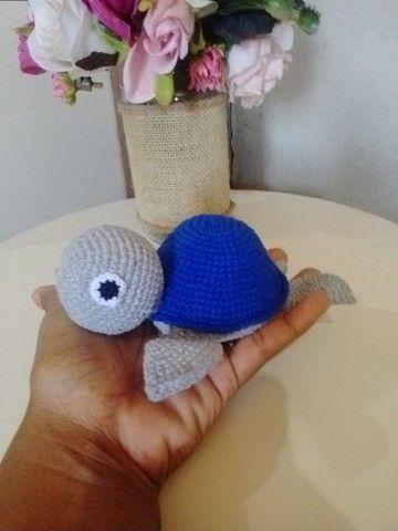 Linda tartaruga em crochê (amigurumi) - Foto 2
