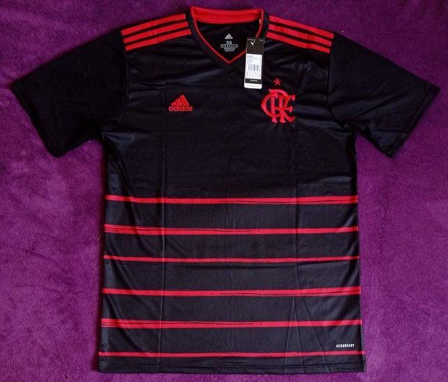 Camisa do Flamengo preta (disponível: P, G e GG)
