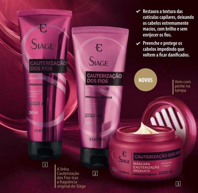 Shampoo + Condicionador Eudora Cauterização dos fios *Lançamento* - Foto 2
