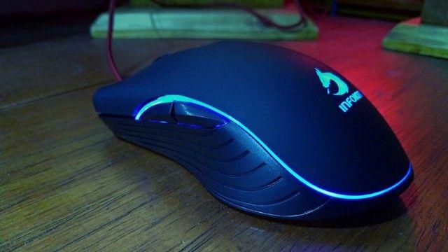 Mouse gamer usb com led rgb infokit gm-v550 x soldado - Foto 3
