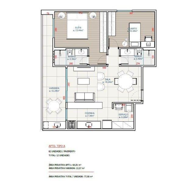 Apartamento novo com 2 quartos em São Pedro da Aldeia - Foto 11