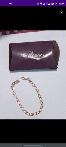 Vendo cordão c/ pingente e pulseira romanel - Foto 4