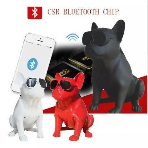 Caixa De Som Amplificada Modelo Cachorro Bulldog Bluetooth - Foto 3