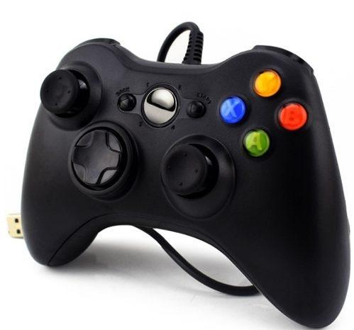 Controle Com Fio Xbox 360 E Pc Slim Joystick Notebook Usb